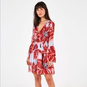Farm Rio Azalea Mini Dress Bell Sleeves Size M New